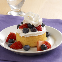 Patriotic Easy Berry Shortcakes
