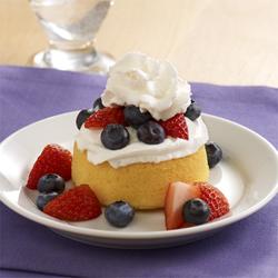 Patriotic Easy Berry Shortcakes