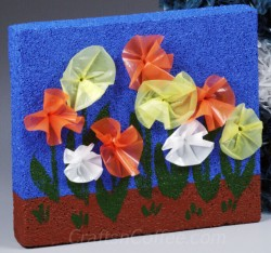 Plastic Bag Flower Garden Picture