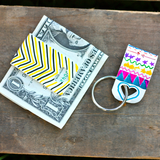 Shrinky Dink Key Chains and Money Clip