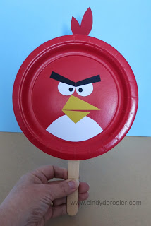 Angry Bird Paddles & Angry Bird Paddles | Fun Family Crafts