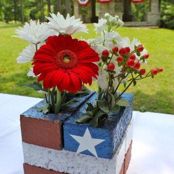 Patriotic Brick Centerpiece