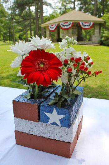 Patriotic Brick Centerpiece