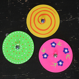 Recycled CD Spinners