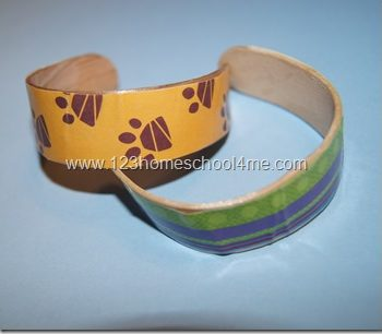 Craft Stick Bracelet