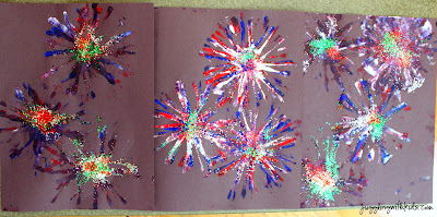 Fireworks Painting Fun Family Crafts