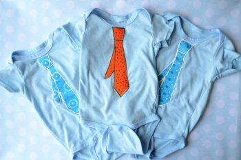 Skinny Tie Onesies with Fabric Paint
