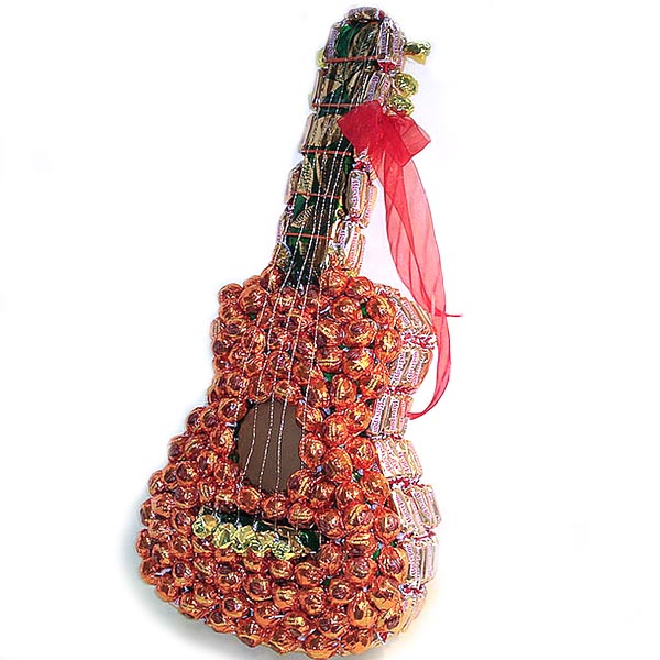 candy guitar gift idea fun family crafts