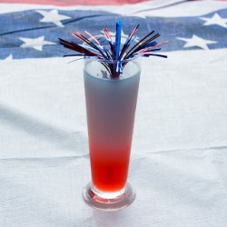 July 4th Layered Drink