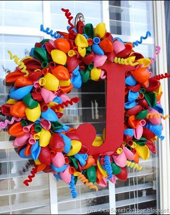 Monogram Balloon Wreath