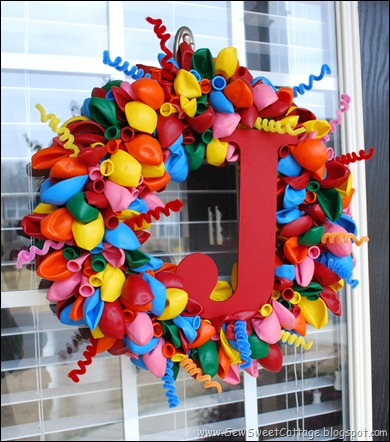 Monogram Balloon Wreath