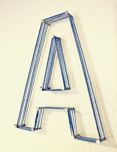 Nail and String Letters