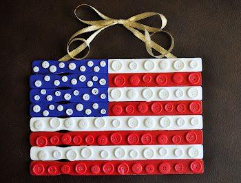 Paint Stick Button Flag
