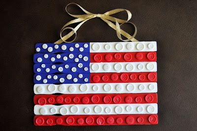Paint Stick Button Flag