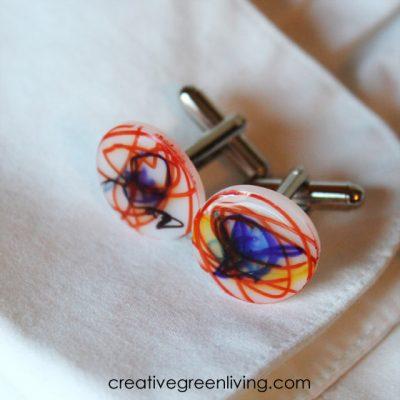 Shrink Plastic Cuff Links