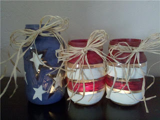 Patriotic Tea Lights