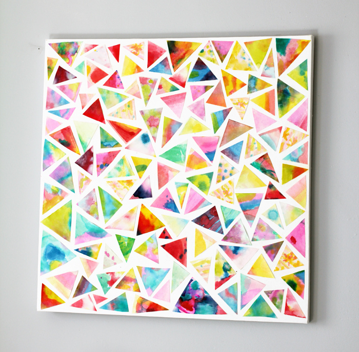 Classroom Ideas Yr 6 ~ Watercolor mosaic collage fun family crafts