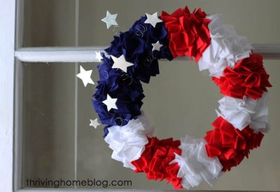 Patriotic Felt Wreath