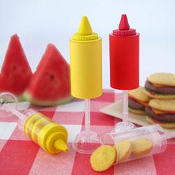 Ketchup and Mustard Push-Up Pops