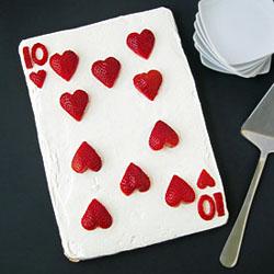 10 of Hearts Strawberry Dessert Pizza