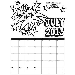 2013 July Coloring Calendar