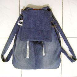 Backpack from Old Jeans