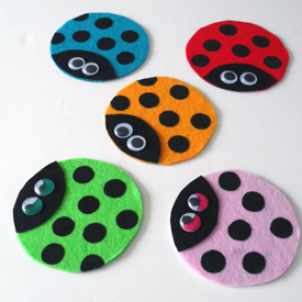 Recycled Cd Ladybugs on Bug Insect Activities