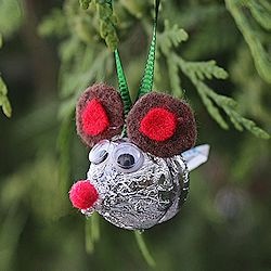 Candy Kiss Mouse Ornament