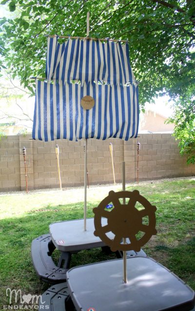 DIY Pirate Mast & Sails