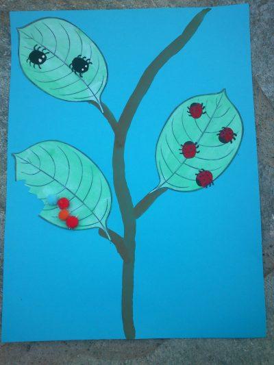 Thumbprint Bugs on Leaves