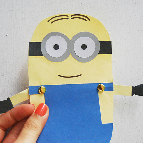 minion paper doll fun family crafts. Black Bedroom Furniture Sets. Home Design Ideas