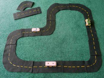 Felt Road Track Set