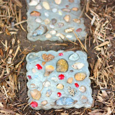 Seashell Garden Stone