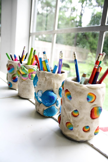 Seashell Pencil Holder