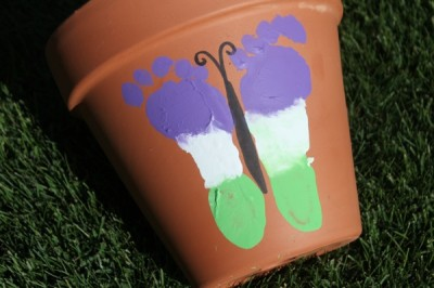 Butterfly Footprint Flower Pot