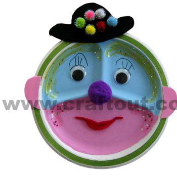 Paper Plate Clown Face