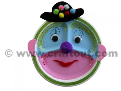 Paper Plate Clown Face