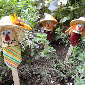 Craft Stick Scarecrows