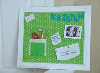 Fabric Covered Corkboard
