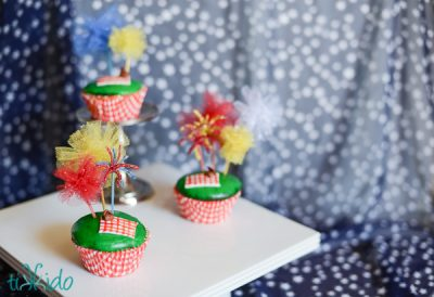 Fireworks Picnic Cupcakes