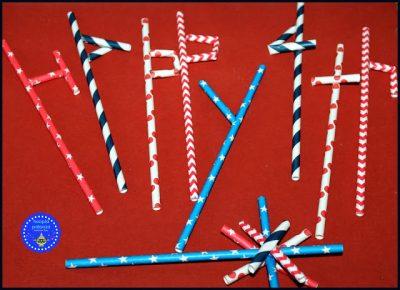 Happy 4th Straws