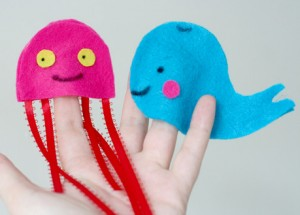 Sea Creature Finger Puppets