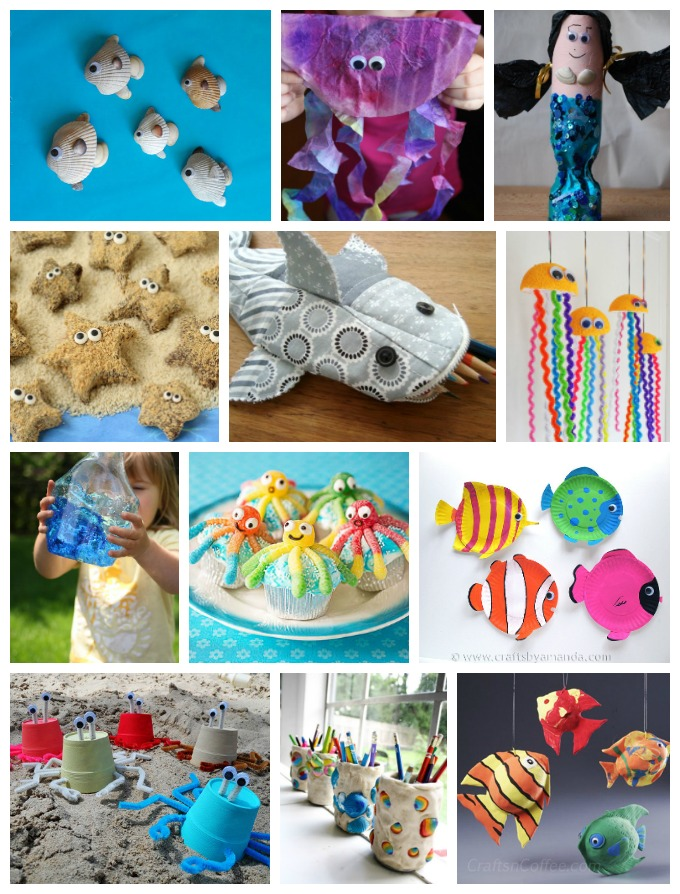 World Oceans Day falls on June 8th and kids love making ocean crafts and recipes, so we've collected over 200 ocean themed crafts and edible crafts for you!