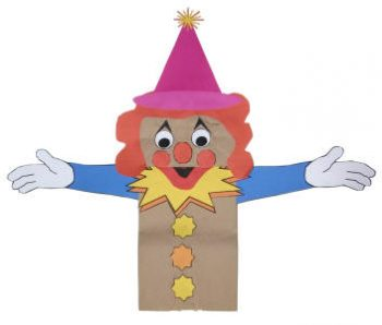 Clown Paper Bag Puppet