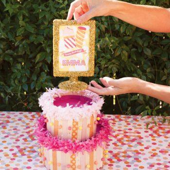 Popsicle Stick Cake Centerpiece