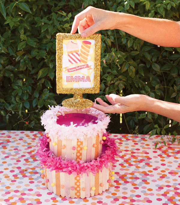 Popsicle Stick Cake Centerpiece