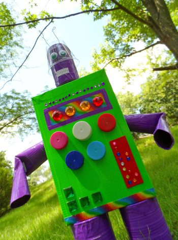 Duck Tape Recycled Robot