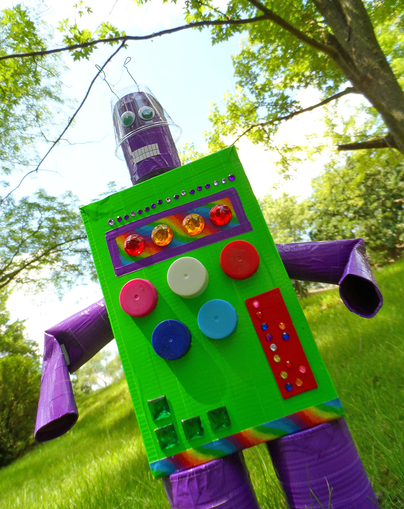 Duck Tape Recycled Robot Fun Family Crafts