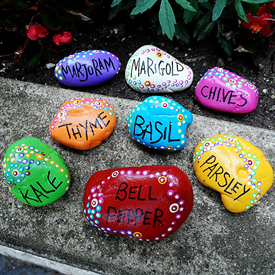 Painted Rock Garden Markers