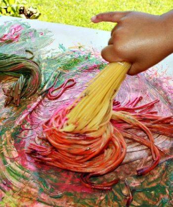 Spaghetti Broom Painting